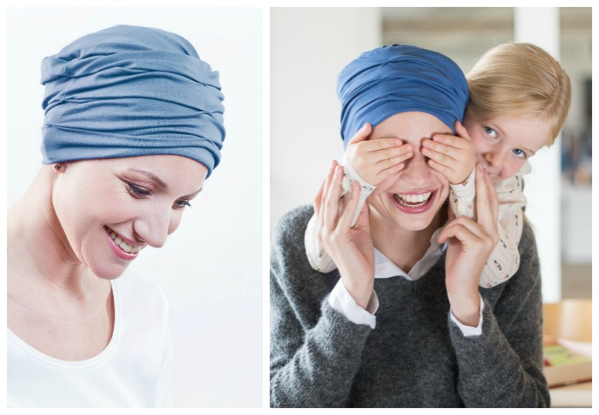 chemo hoofddoeken blauw rosette la vedette