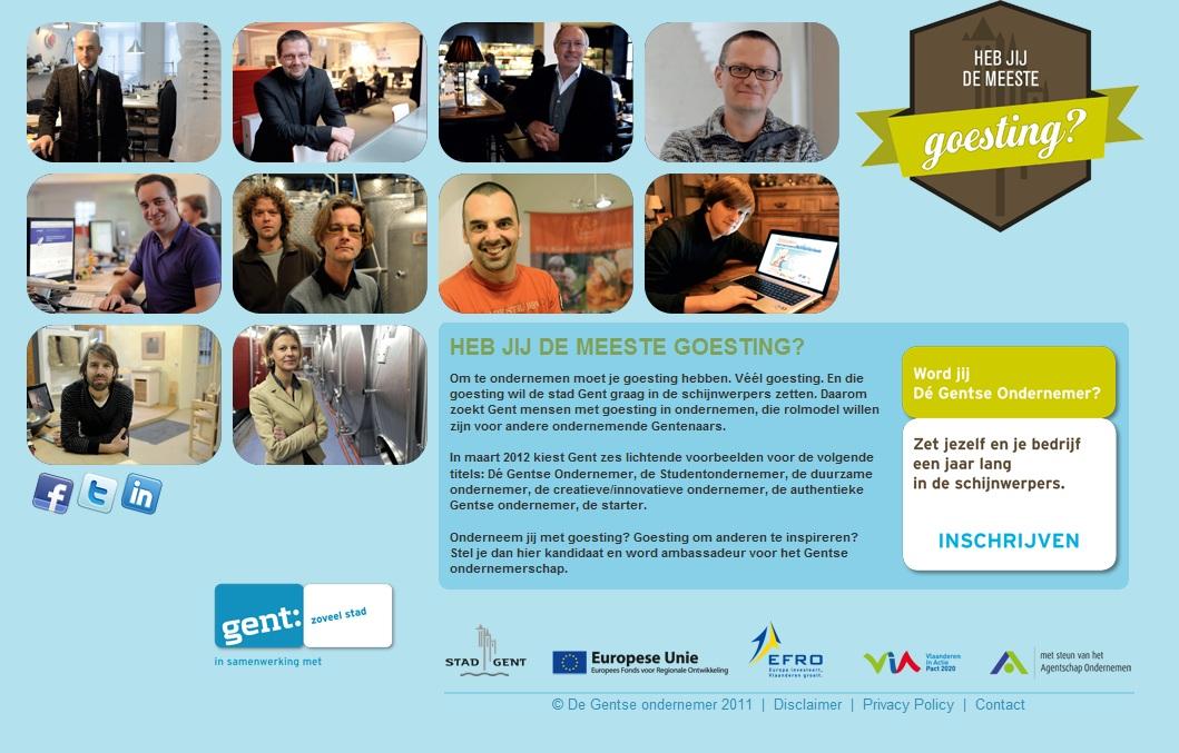 Rosette la Vedette Gentse ondernemer 2012