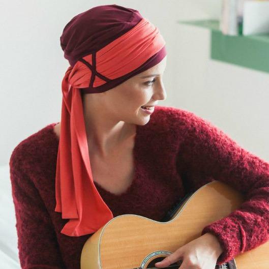 foulard chimio Liz Rosette la Vedette