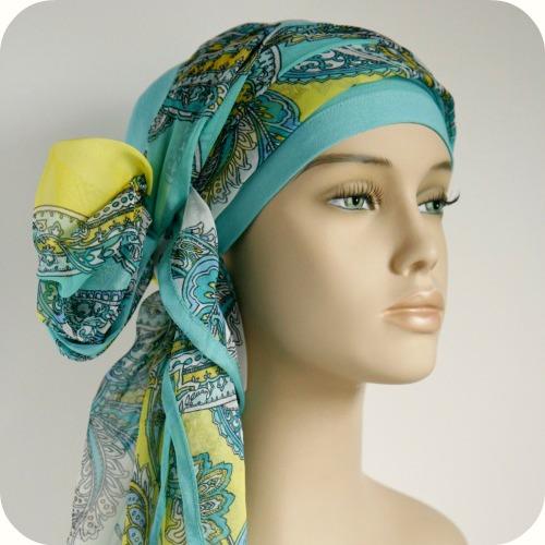Chemo sjaal knopen