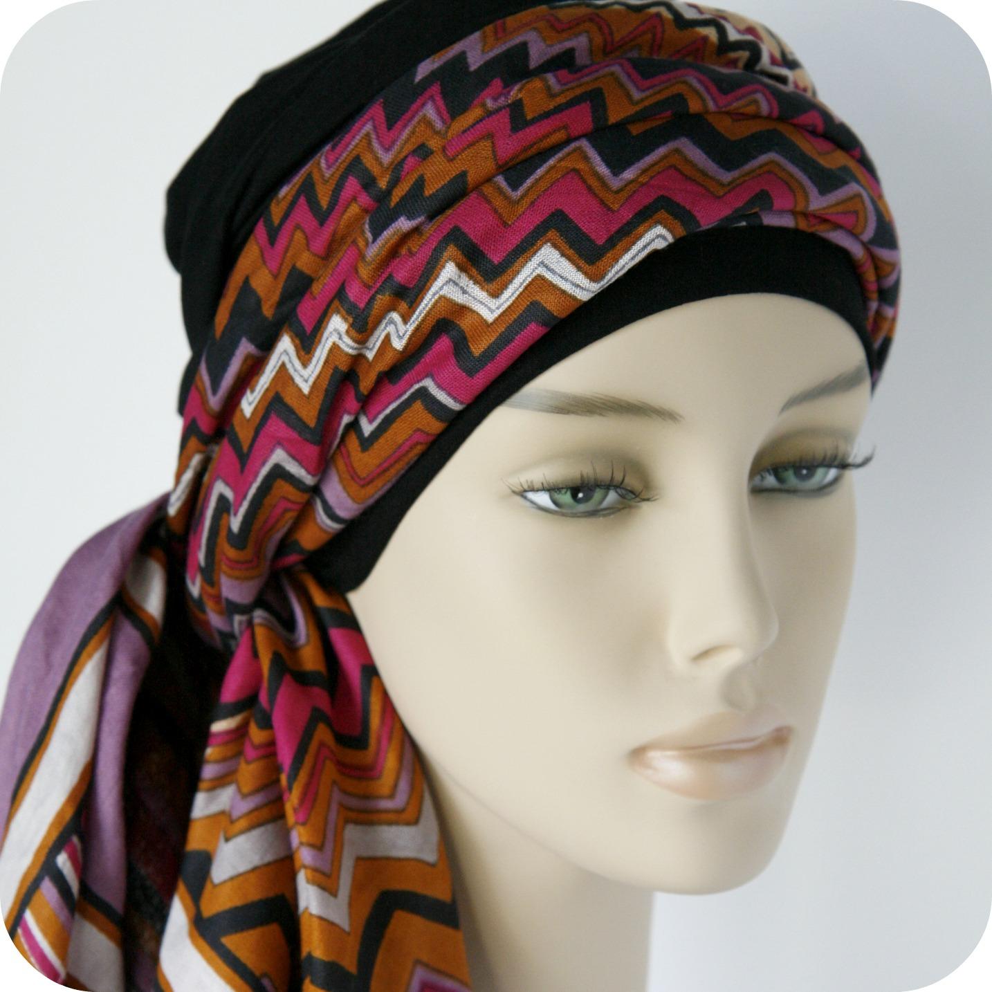 turban-chimio-foulard-cancer-rosette la vedette
