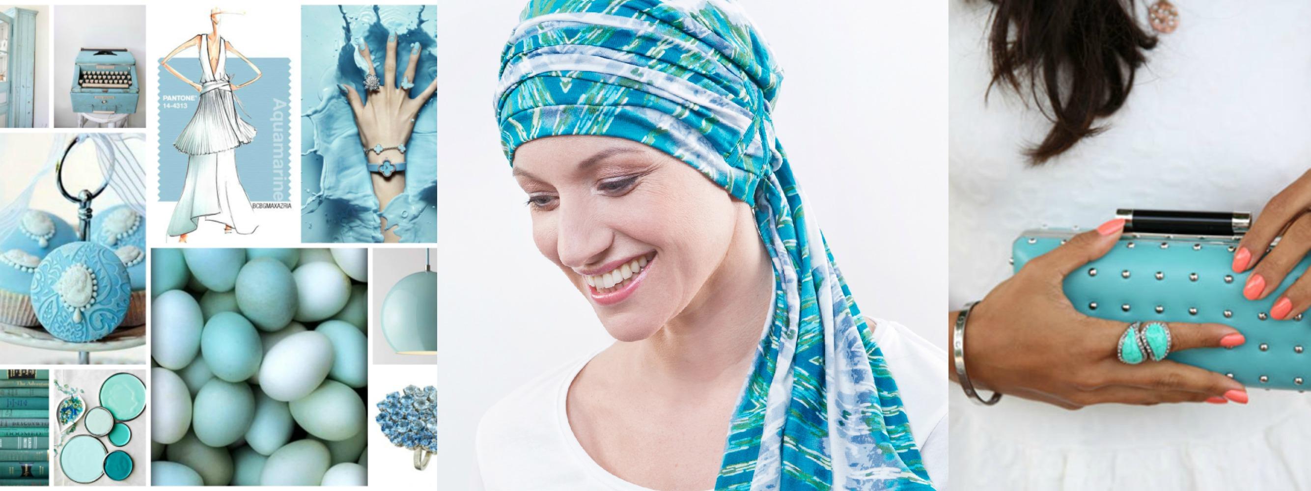 turbans chimio turquoises