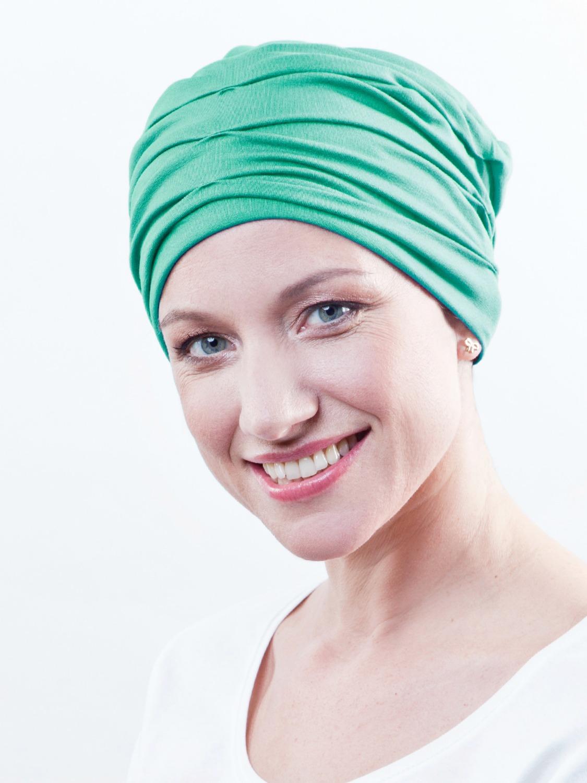 turban chimio vert menthe