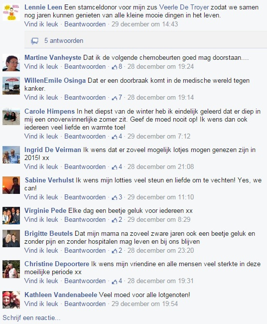 reacties Facebook