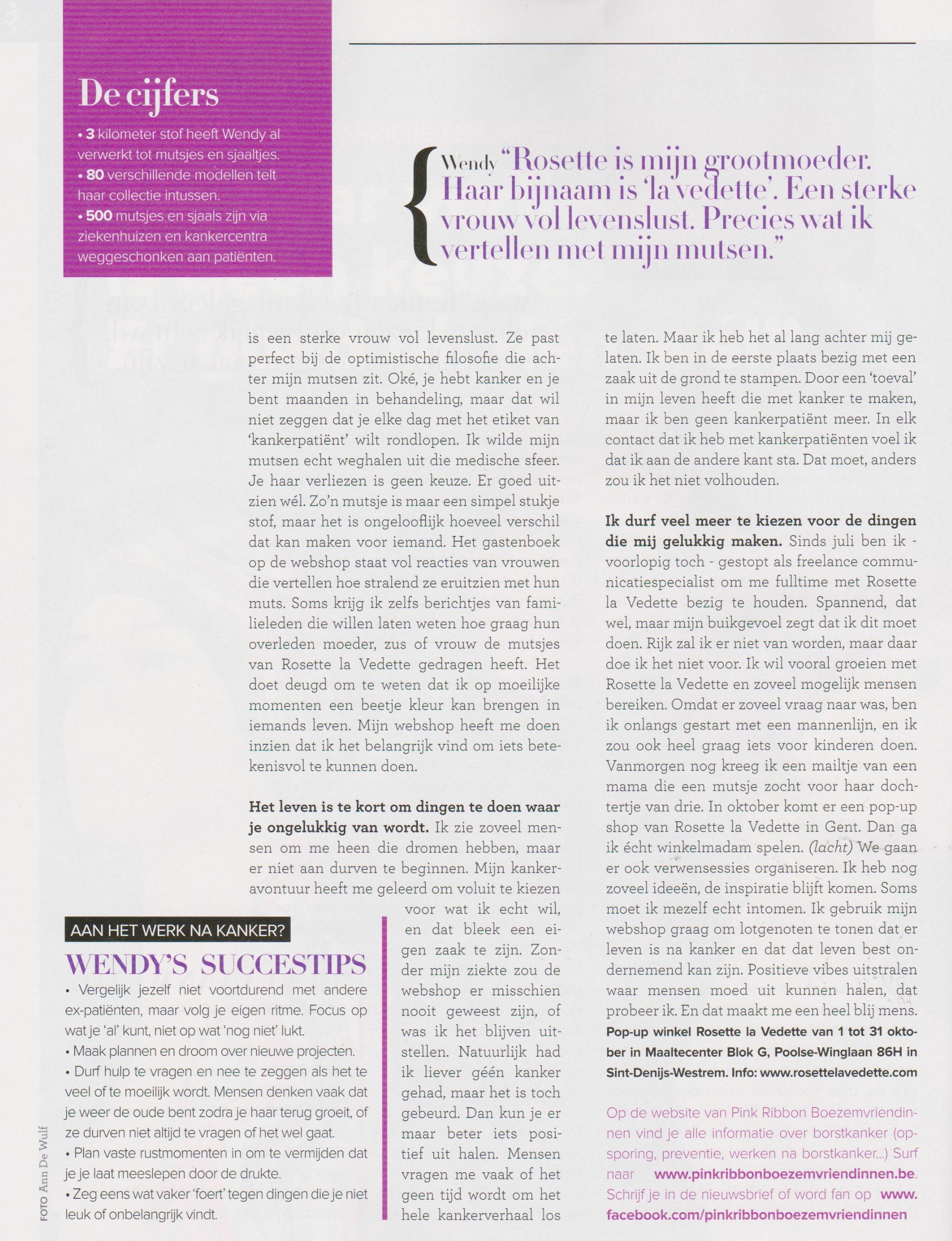 vitaya magazine Rosette la Vedette interview