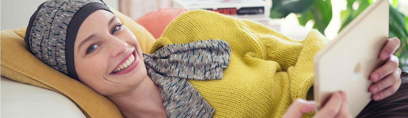 Chemo sjaals voorgevormd