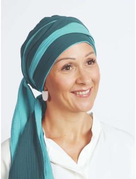 Head scarf cotton Hannah – Aqua Cool Power