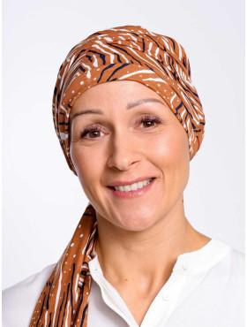 Chemo scarf Liz - Safari