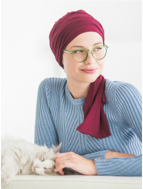 Chemo head scarf Liz - Bordeaux