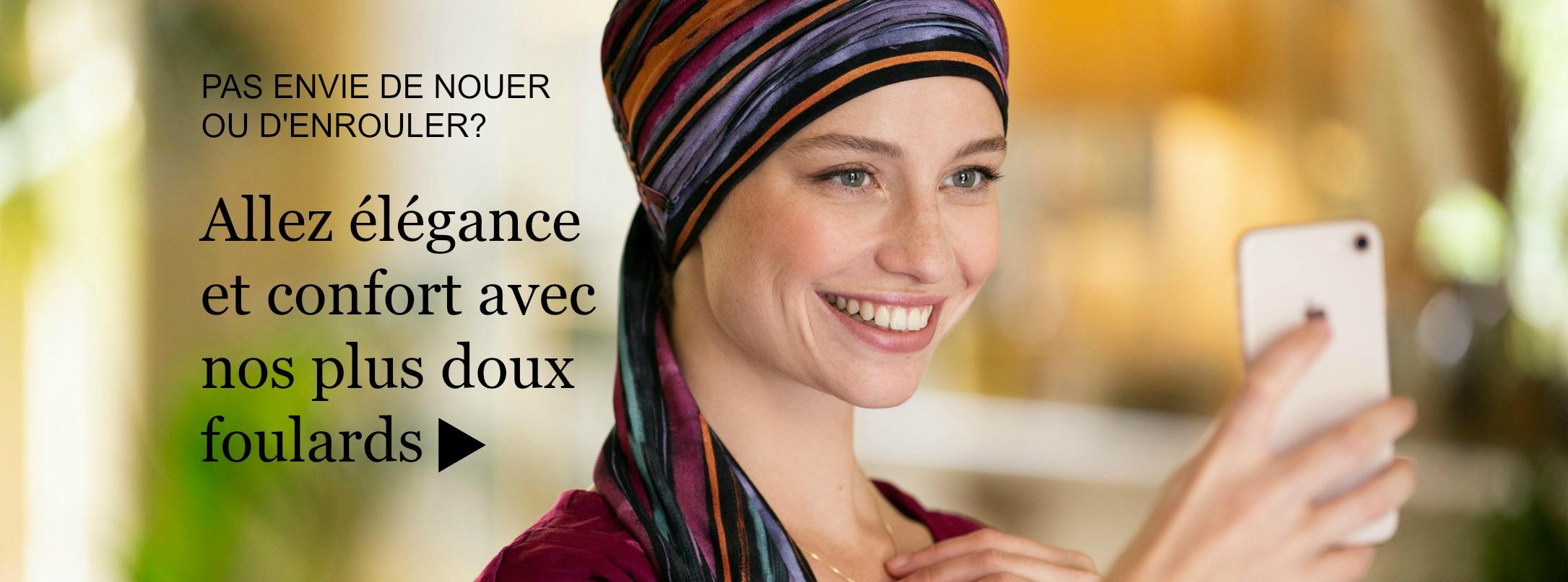 foulards chimio faciles à mettre