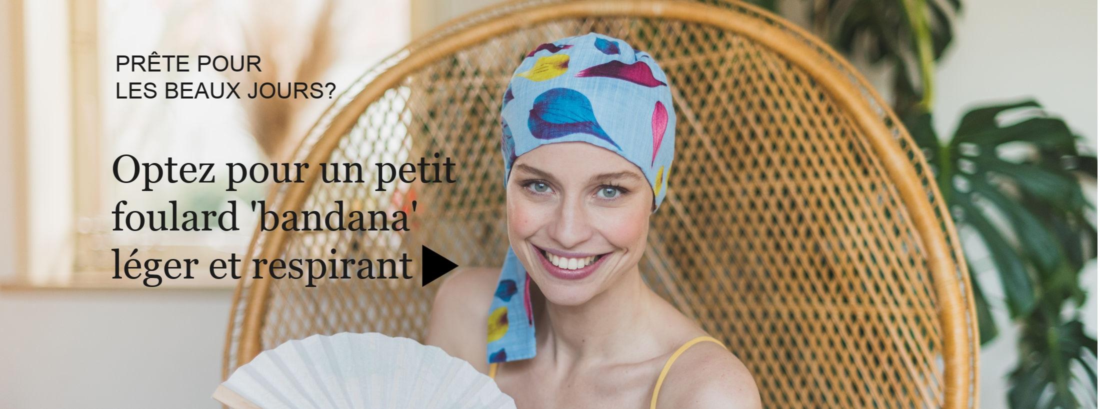 foulards chimiothérapie hyper légers