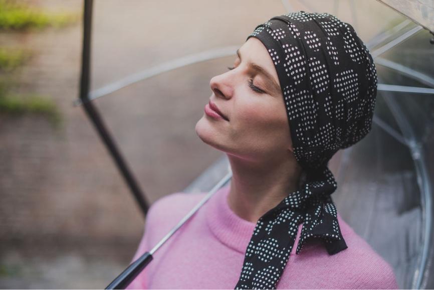 chemo hairband rosette la vedette