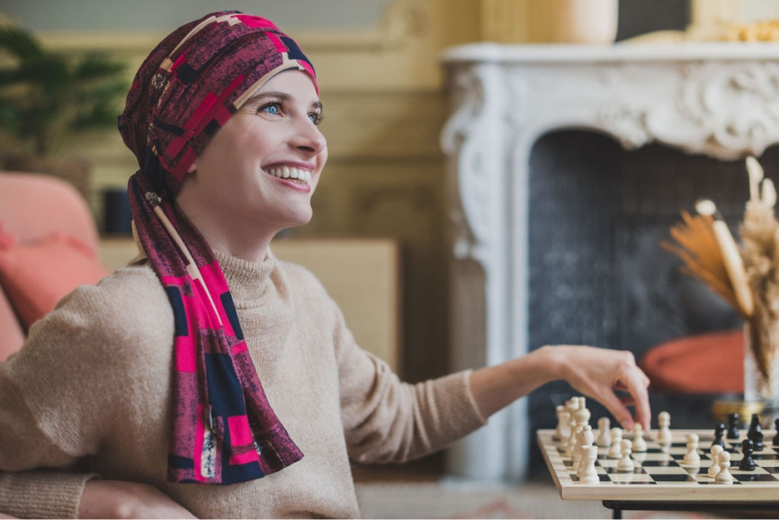 chemo headscarves rosette la vedette