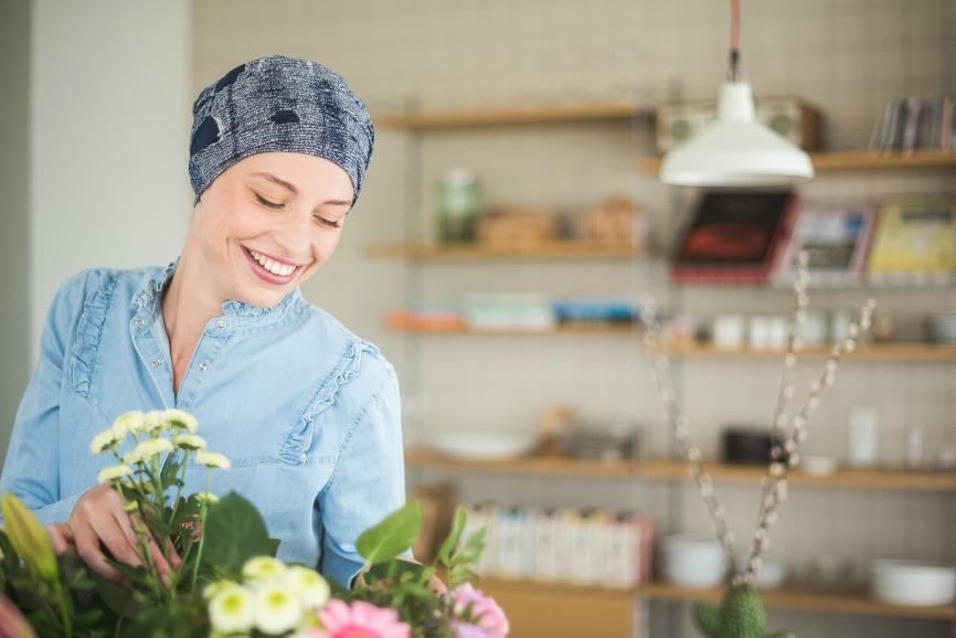 bonnet pour cancer rosette la vedette