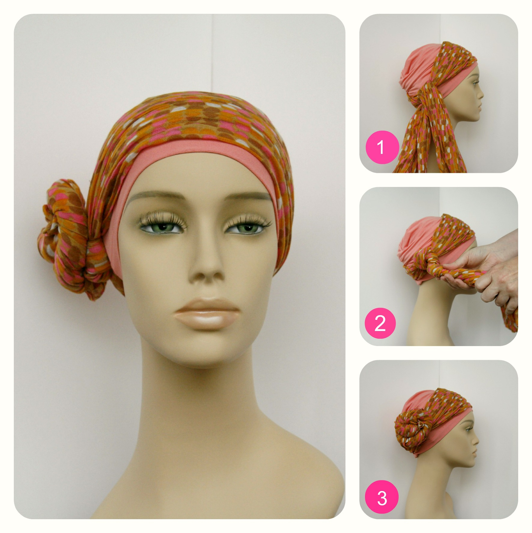 how to tie head scarf chemotherapy