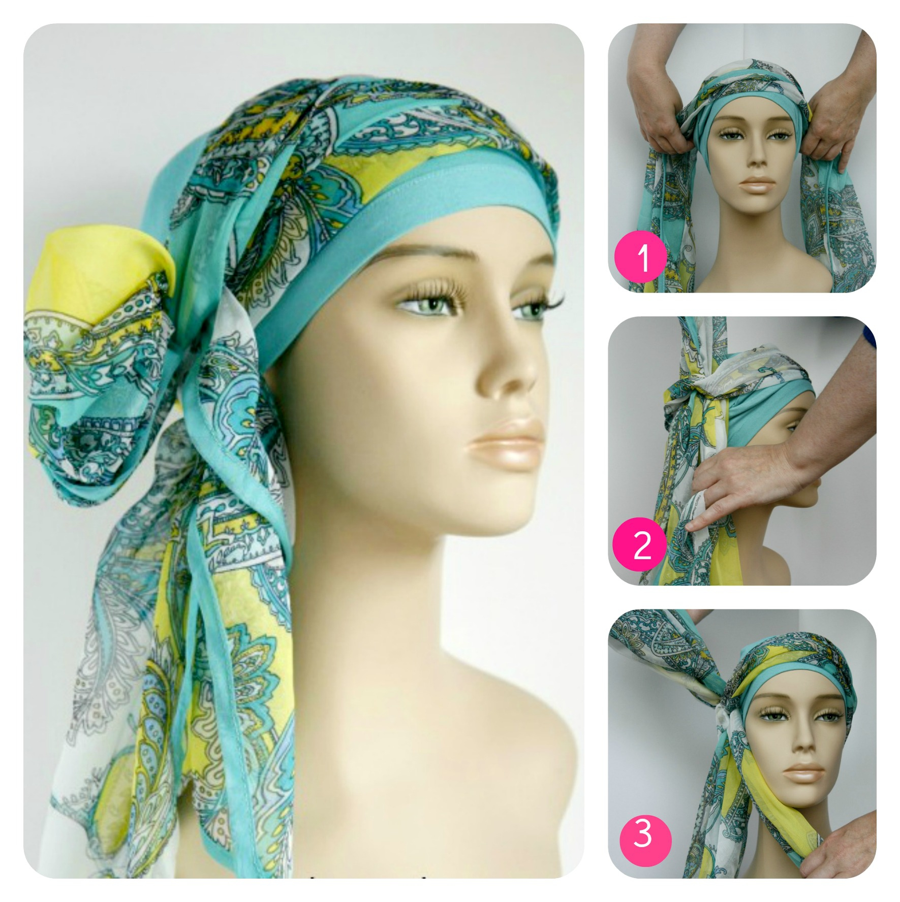 how to wear head scarf hair loss