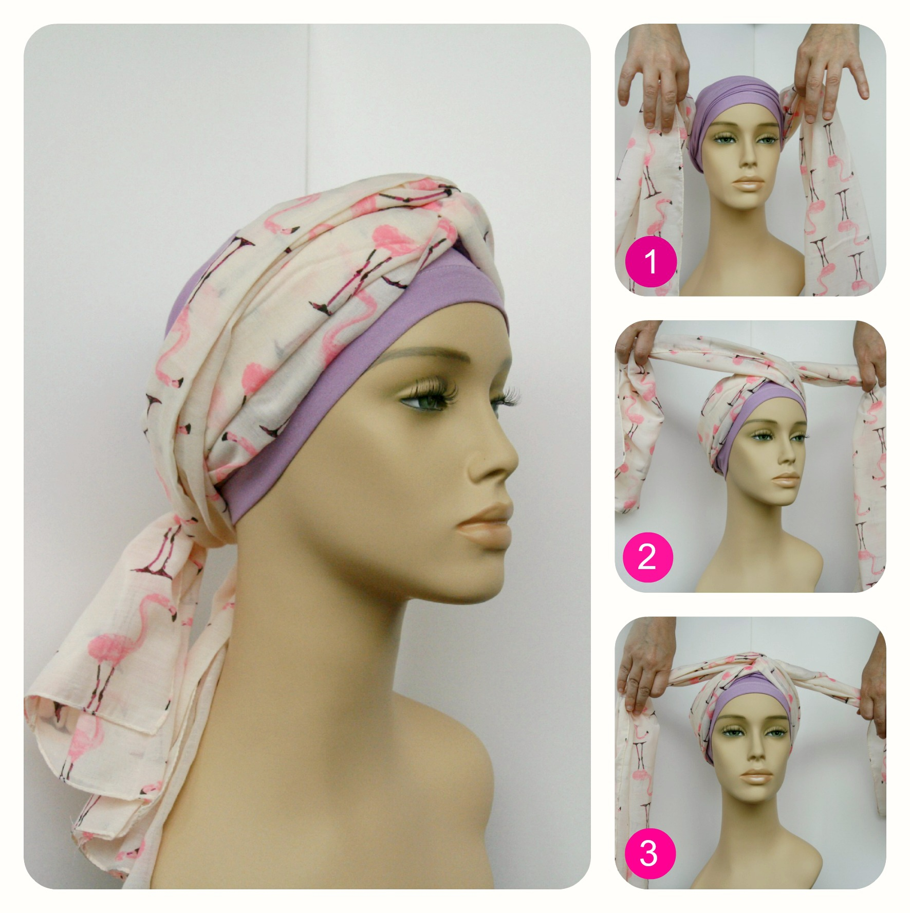 how to tie head scarves cancer patients