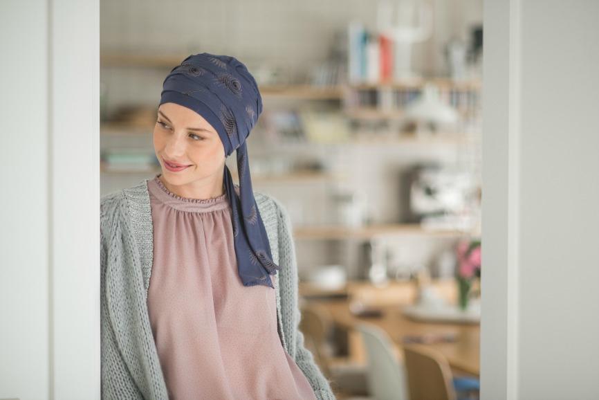 turban chimio taupe rosette la vedette