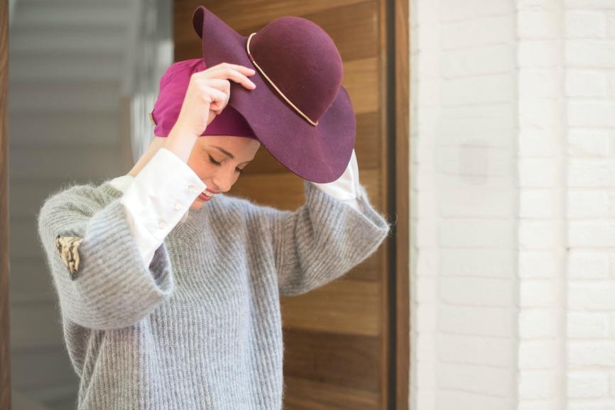 chapeau chimio rosette la vedette