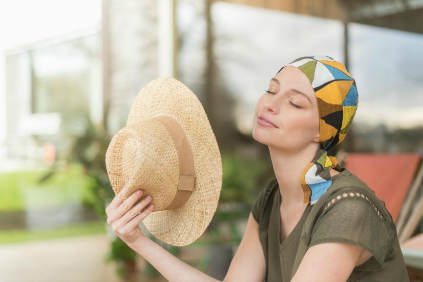 foulard chimiothérapie coton rosette la vedette