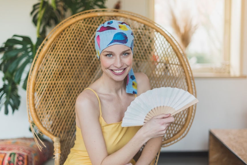 foulard chimiothérapie Rosette la Vedette