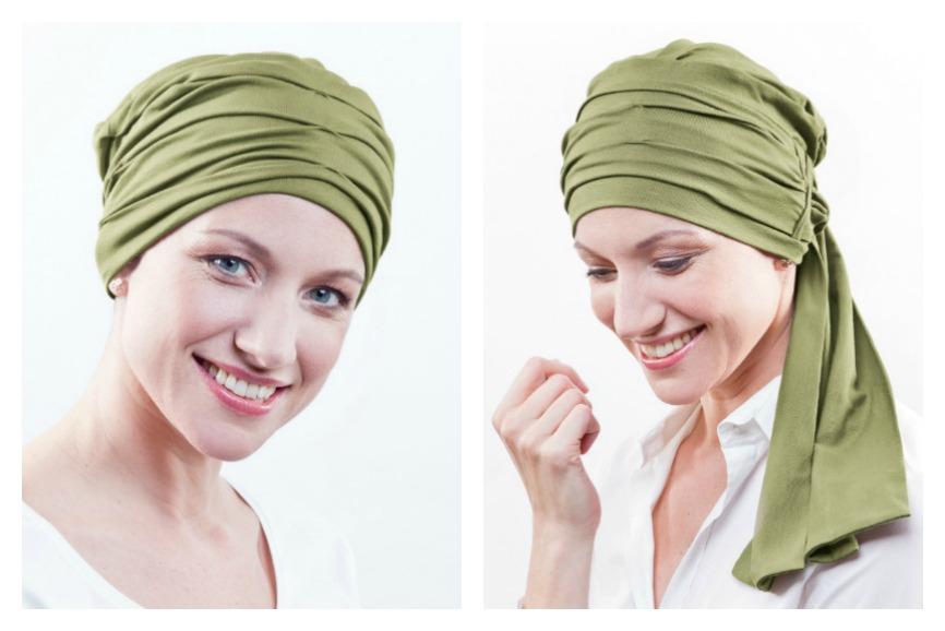 groene chemo hoofddoekjes rosette la vedette