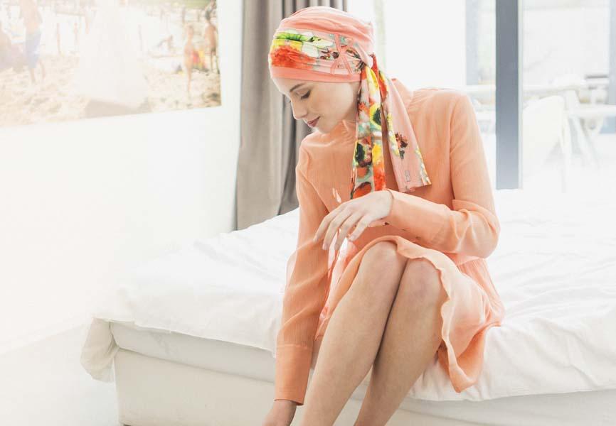 turban pour chimio rosette la vedette