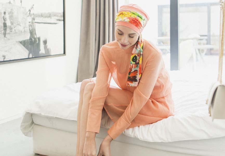 foulard cancer rosette la vedette