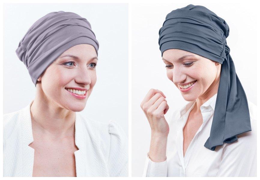 grijze chemo sjaal rosette la vedette